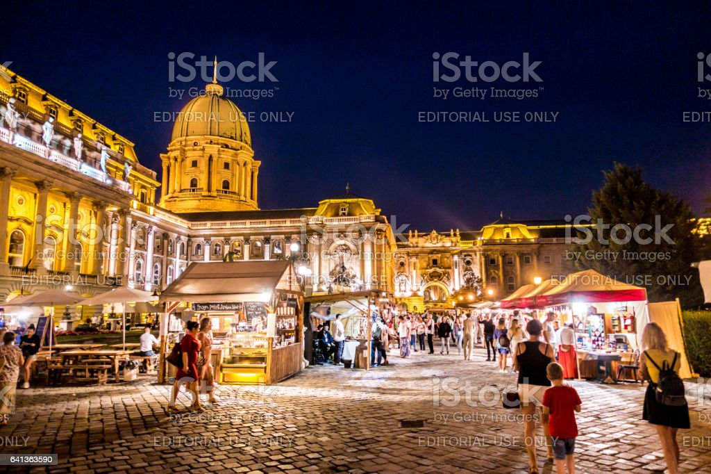 buda castle festival folk hungary stock photo