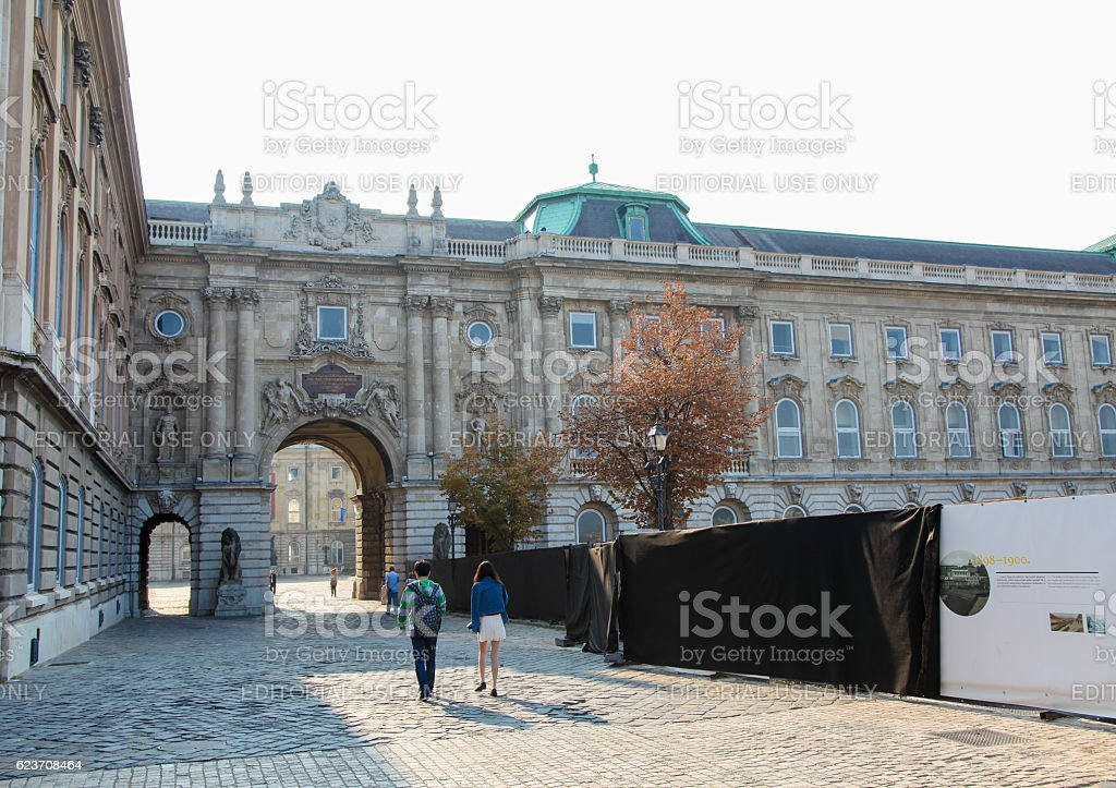 Buda Castle in Budapest, Hungary stock photo