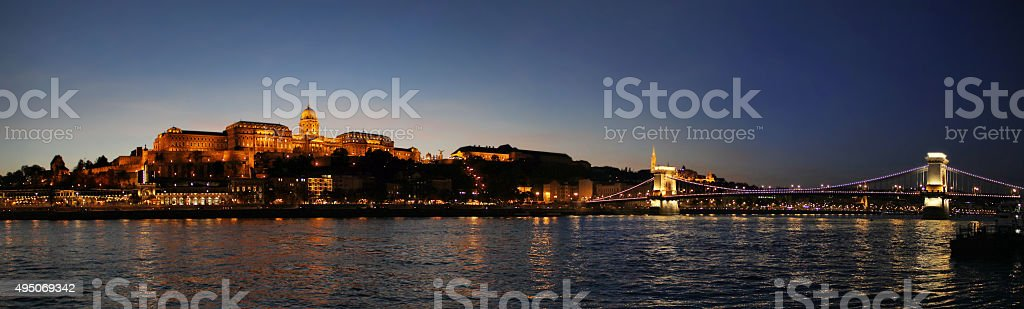 Buda Castle in Budapest stock photo