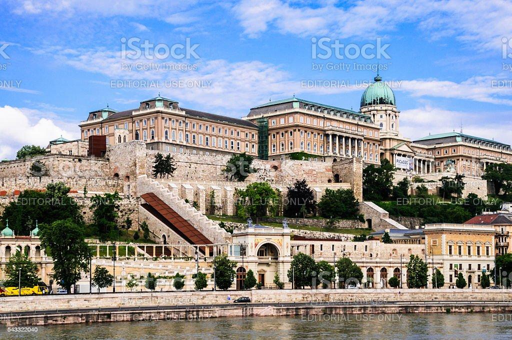 Buda Castle on the Danube stock photo