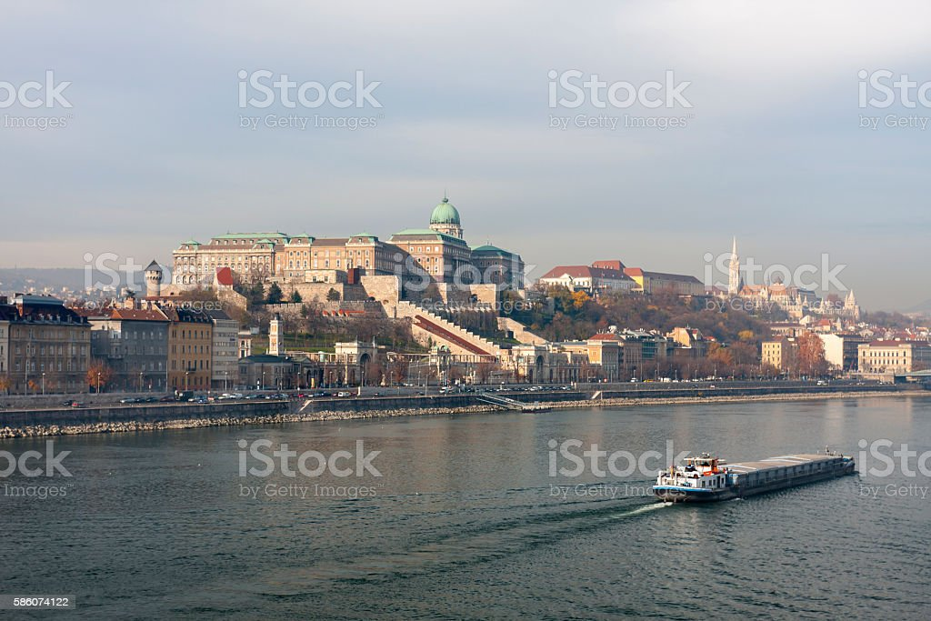 Buda Castle stock photo