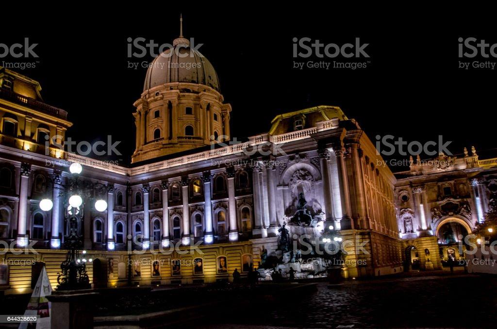 Buda Castle stock photo