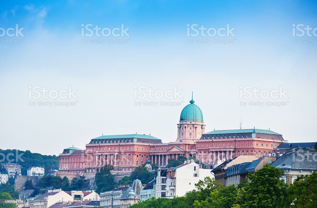 Buda Castle view in Budapest royalty-free stock photo