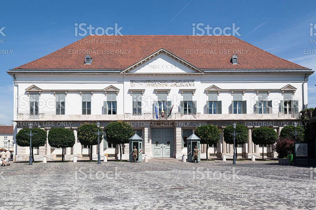 Buda Hisotrical Building Budapest Hungary stock photo