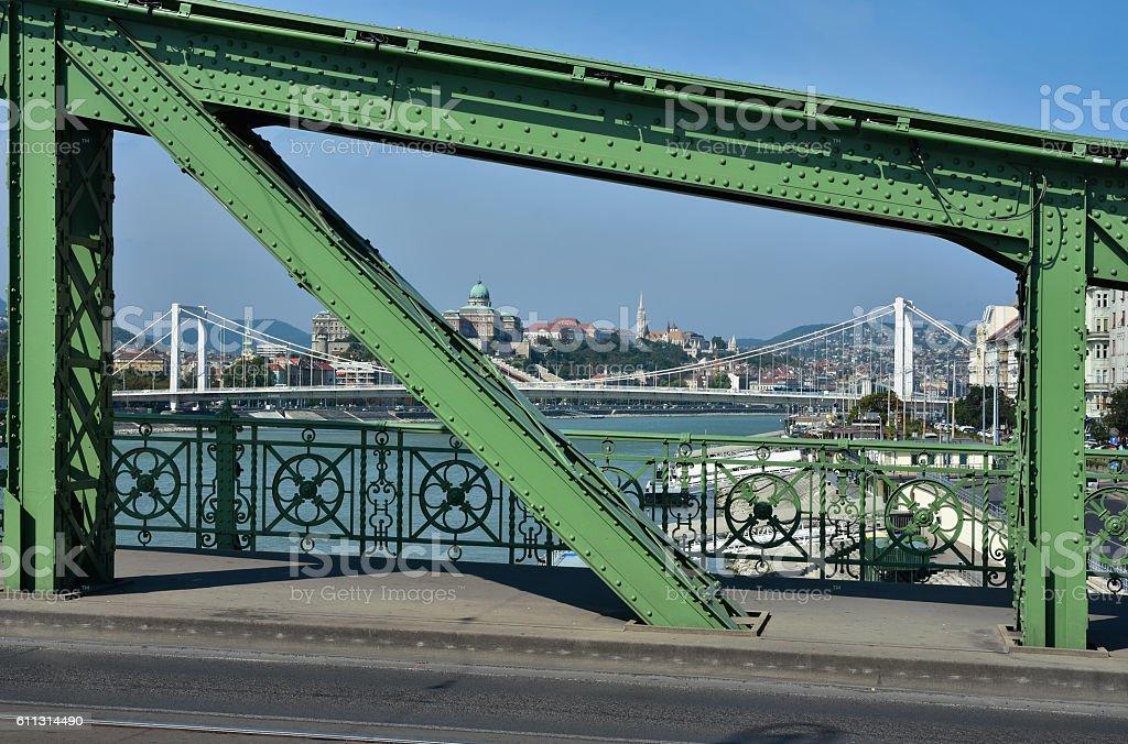 Budapest and Danube panorama stock photo