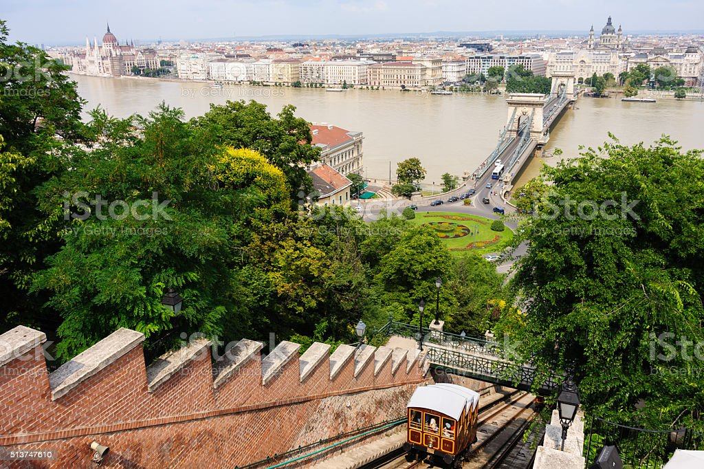 Budapest and the Funicular stock photo