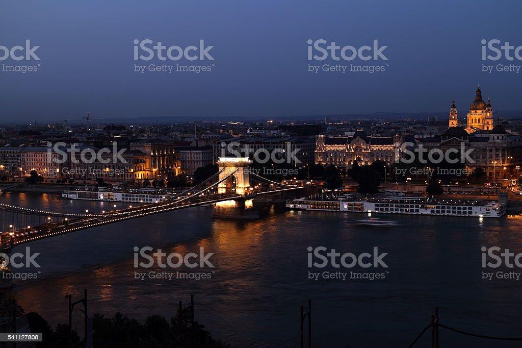 Budapest at dusk stock photo
