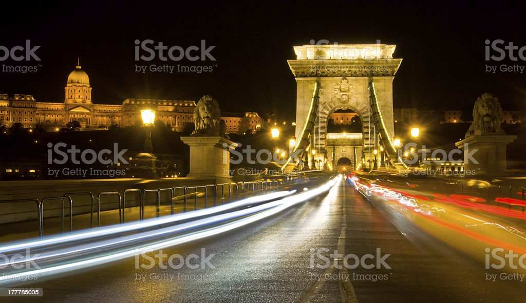 Budapest at night royalty-free stock photo