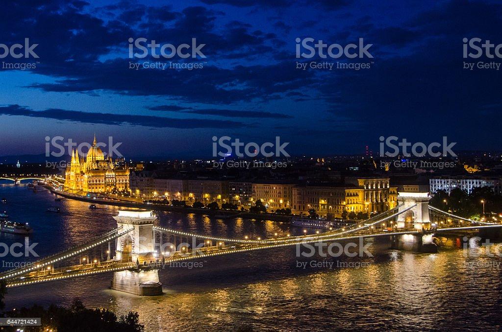 Budapest at Night stock photo