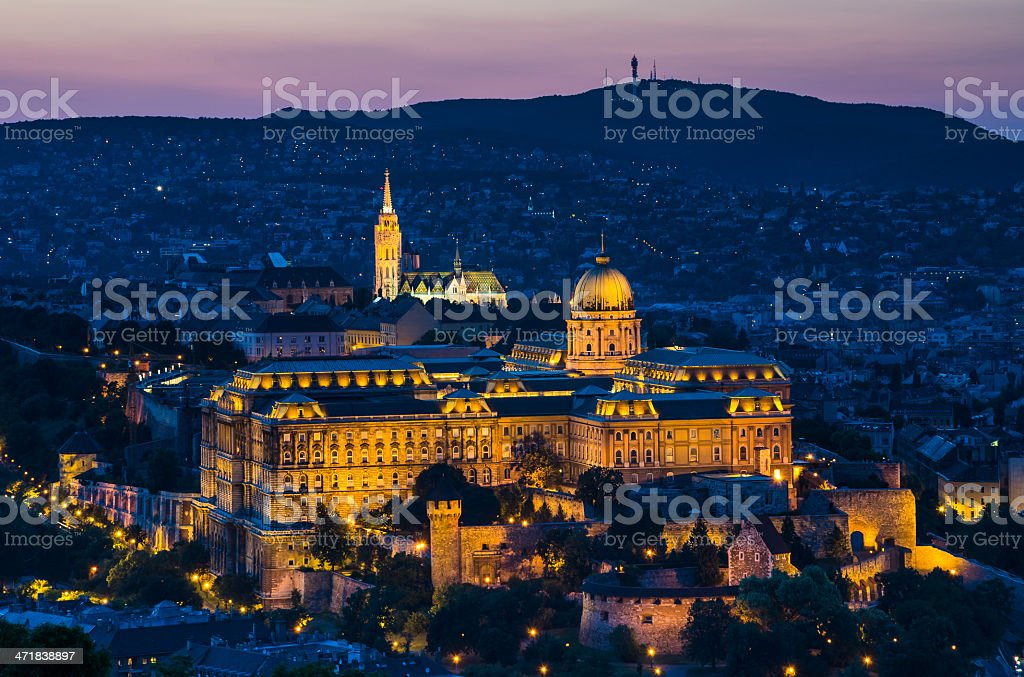 Budapest at twilight, Hungary stock photo