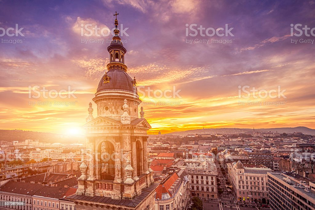 Budapest Basilica stock photo