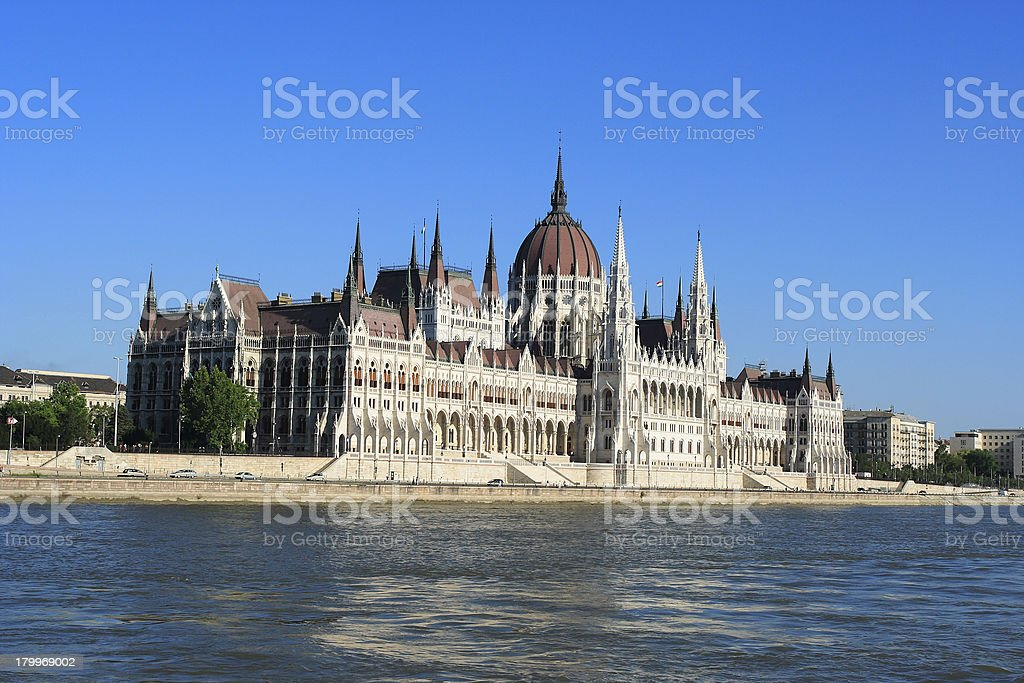 Budapest, building of the Parliament royalty-free stock photo