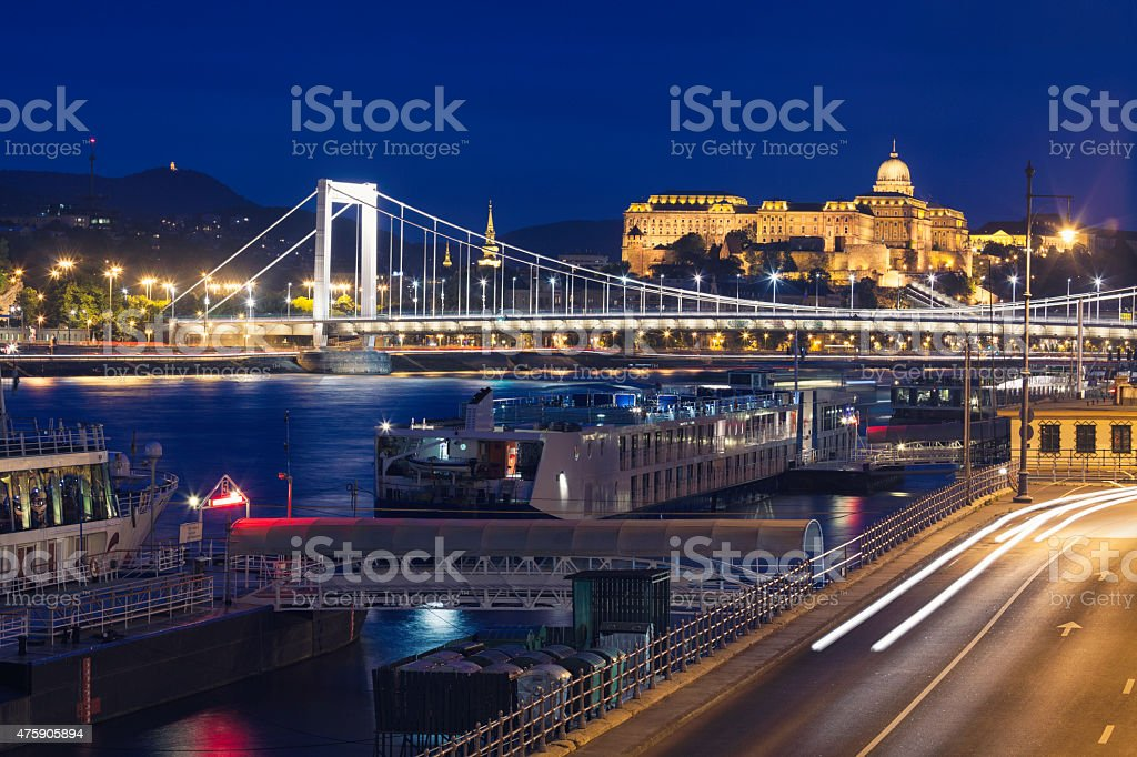 Budapest by the river Danube stock photo