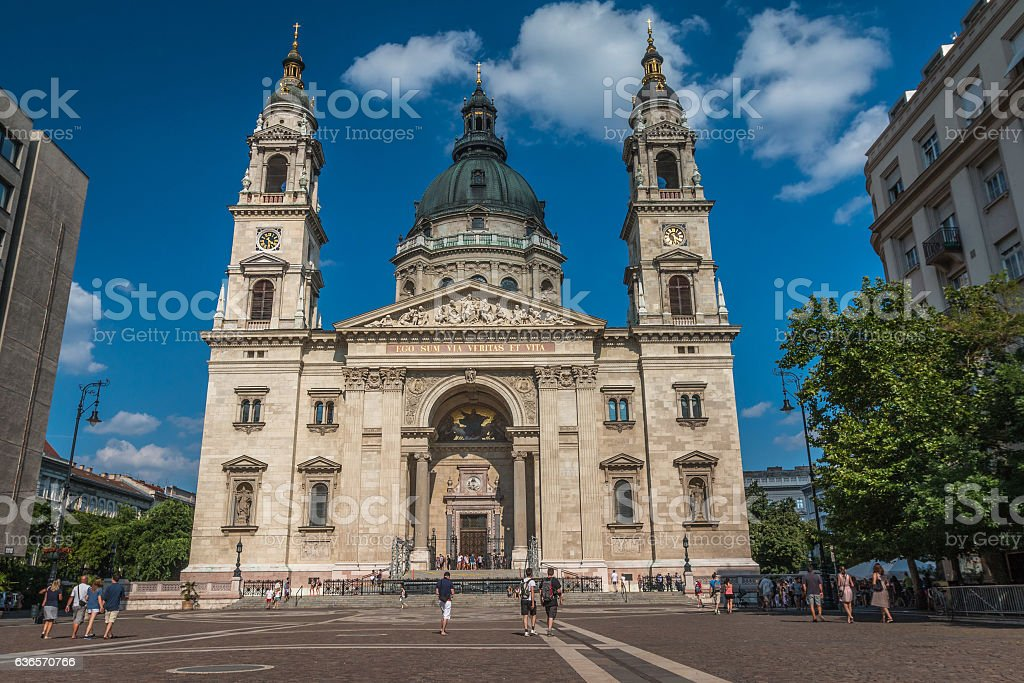 Budapest Cathedral stock photo