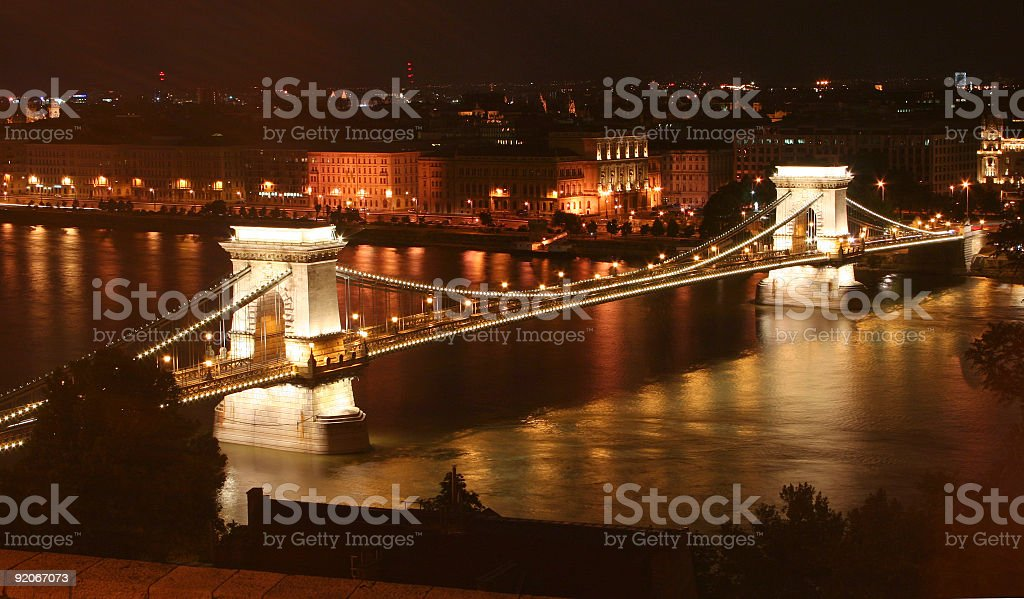 Budapest, chainbridge royalty-free stock photo