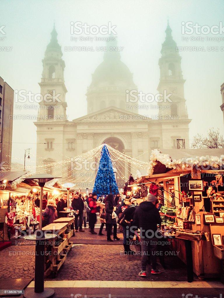 Budapest Christmas Market stock photo