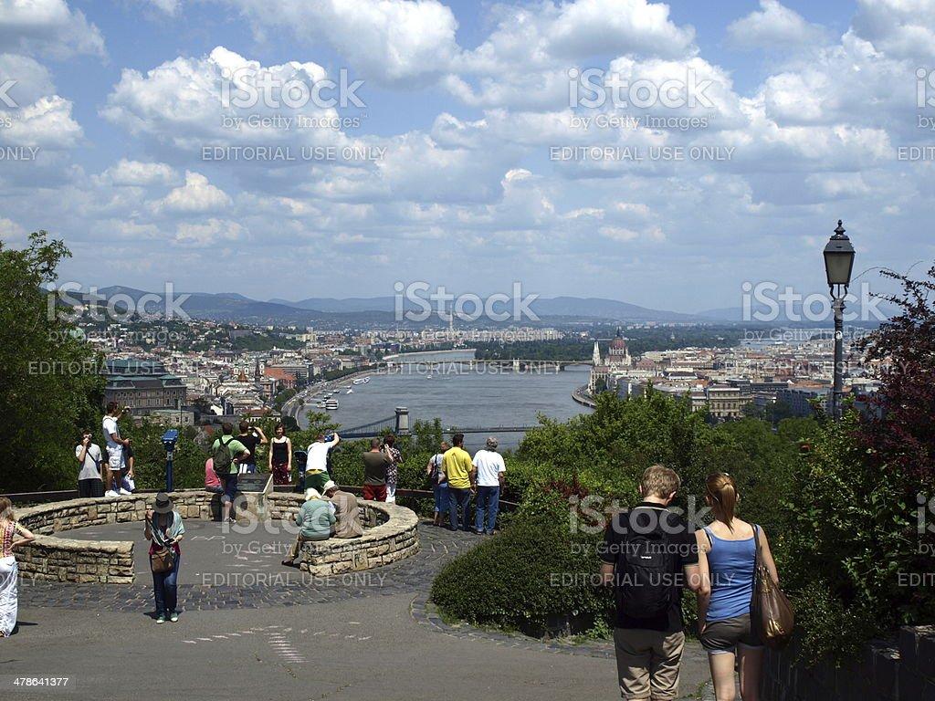 Budapest city pamorama stock photo
