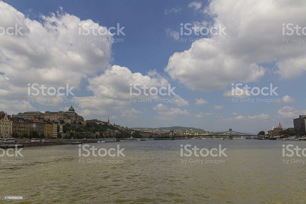 Budapest city panorama with the river Danube royalty-free stock photo