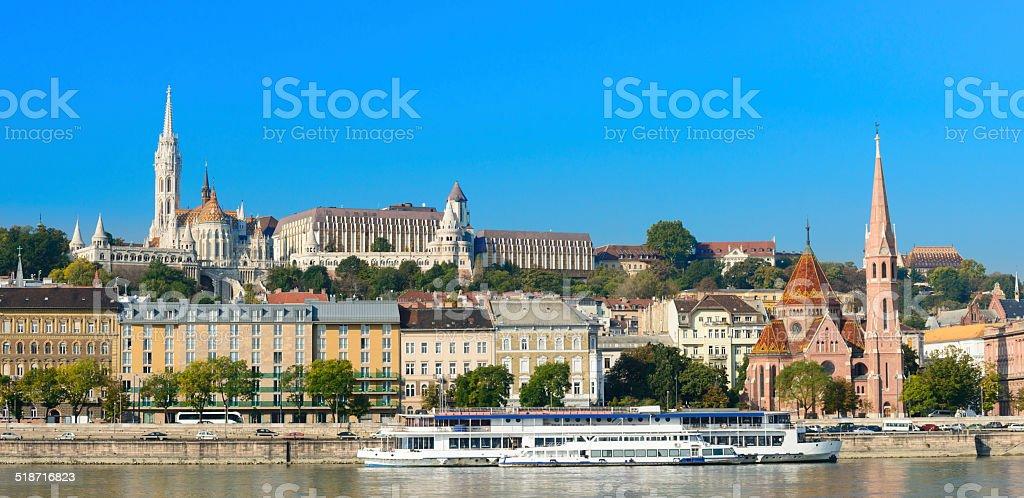 Budapest City Skyline in Budapest Hungary stock photo