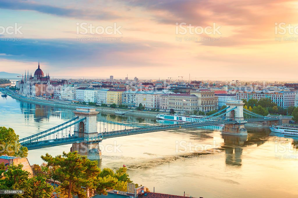Budapest cityscape stock photo