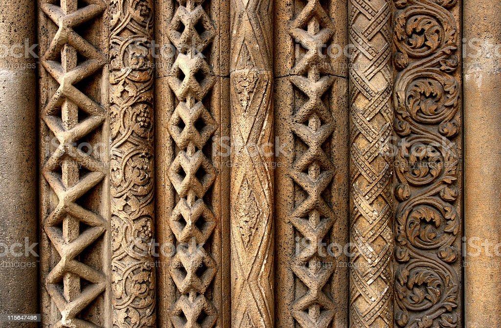 Budapest column patterns royalty-free stock photo