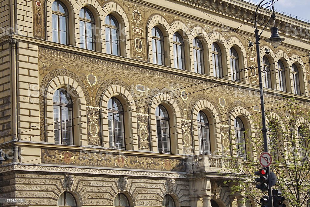 Budapest facade royalty-free stock photo