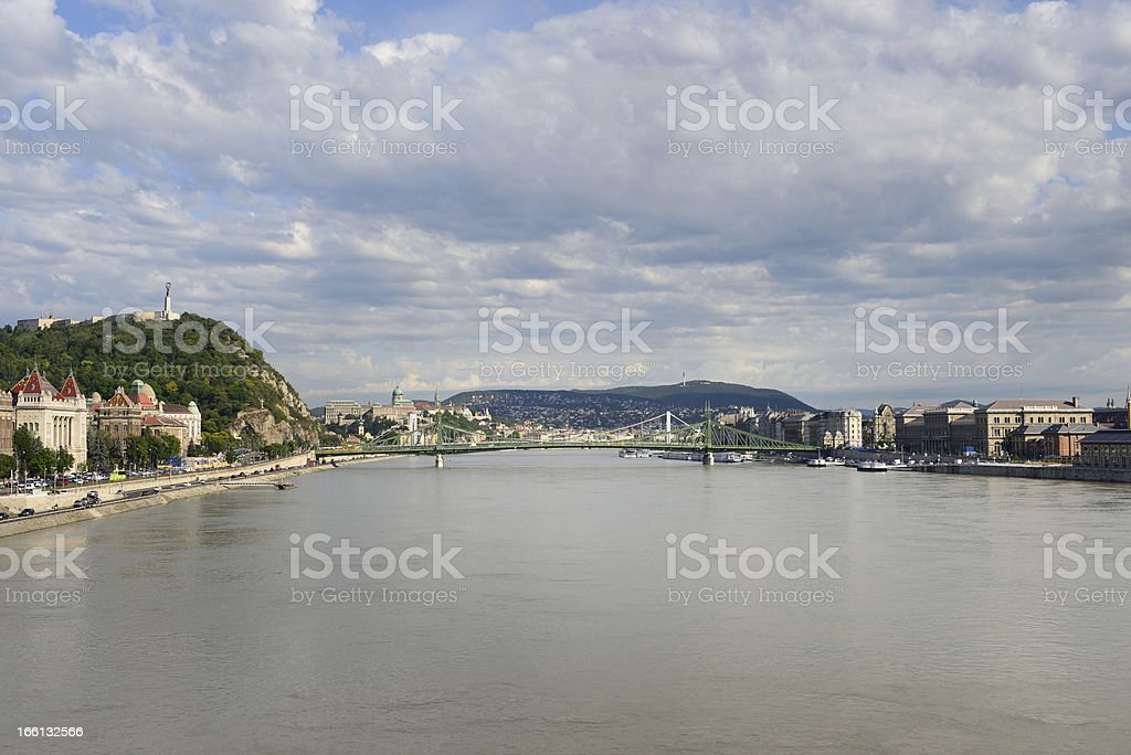 Budapest from Danube royalty-free stock photo