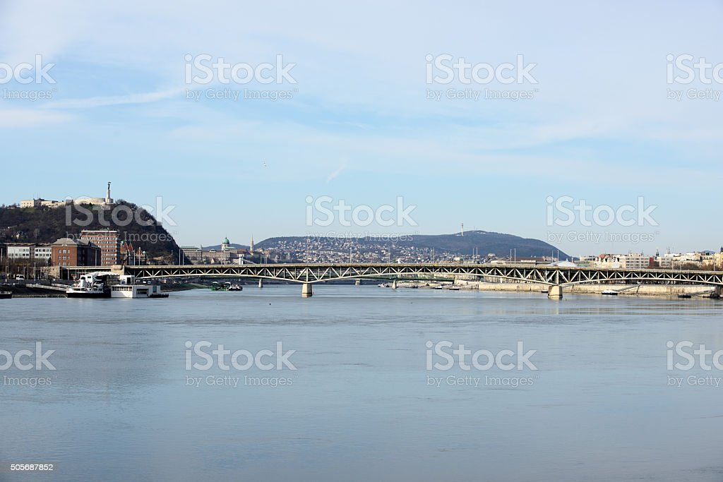Budapest from Danube stock photo