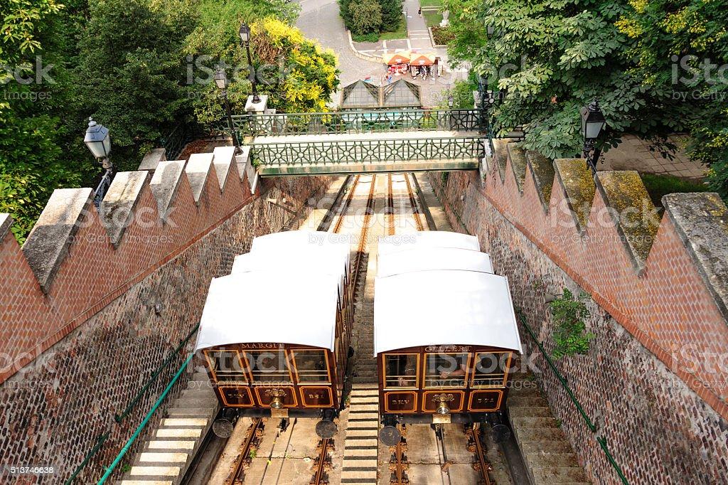 Budapest Funicular railway stock photo