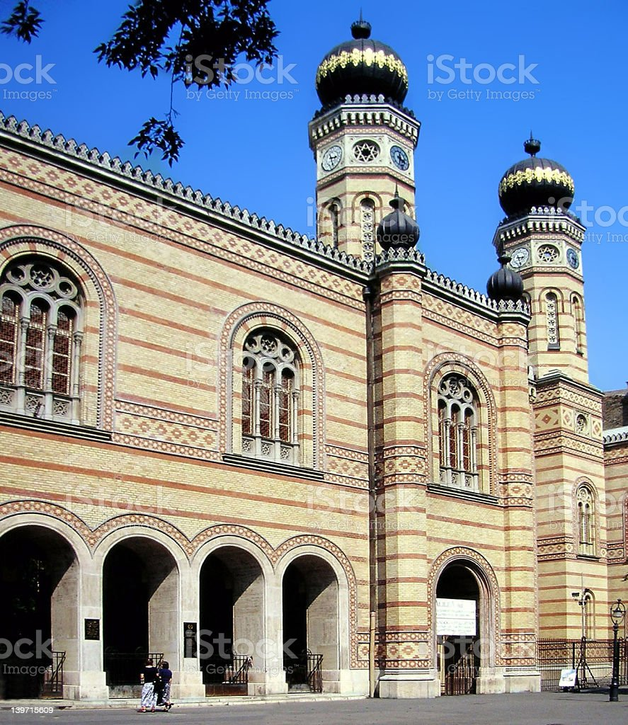 Budapest Great Synagogue royalty-free stock photo
