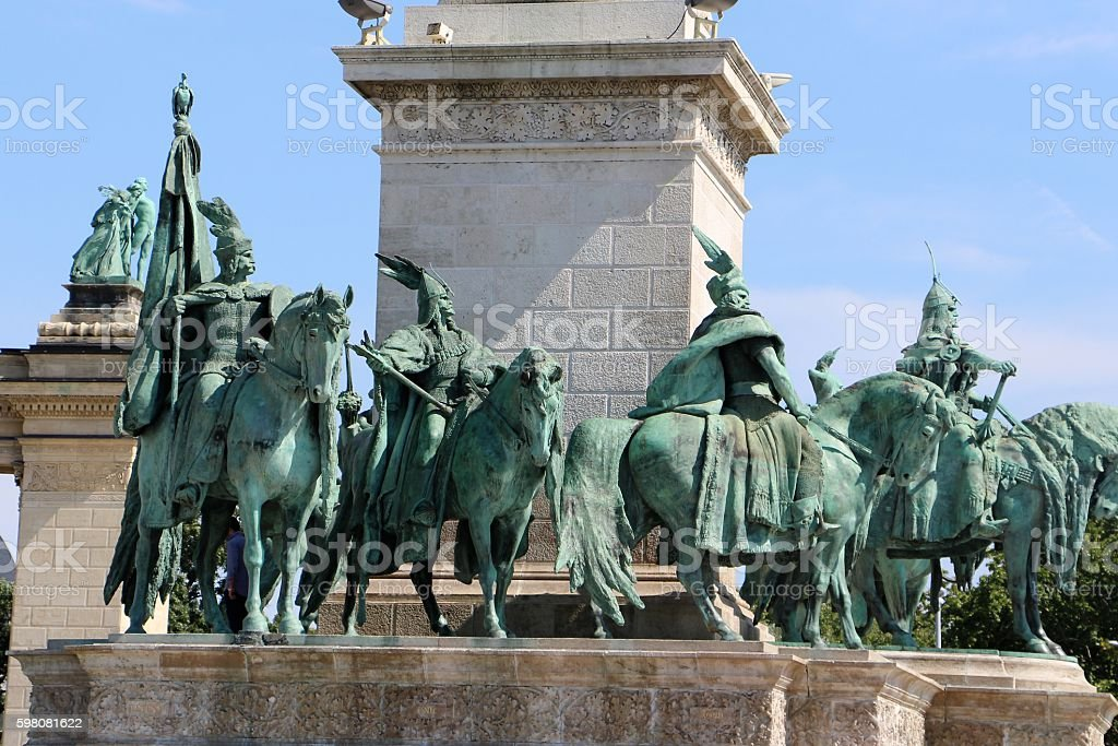 budapest - heroes place stock photo