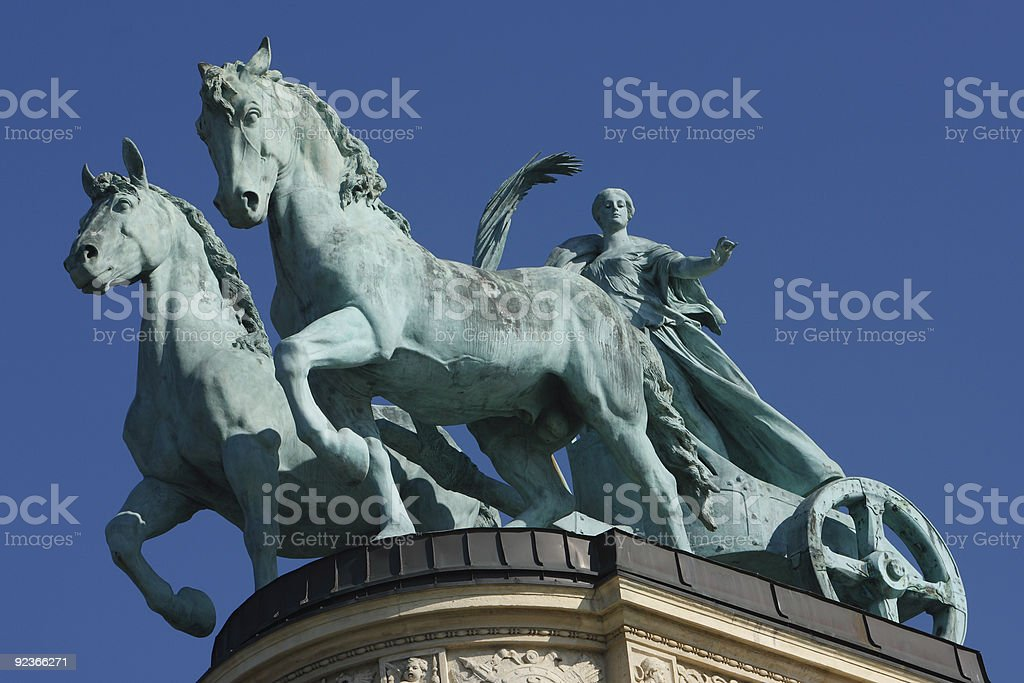 Budapest, Heroe's Square, Hungary, Europe royalty-free stock photo