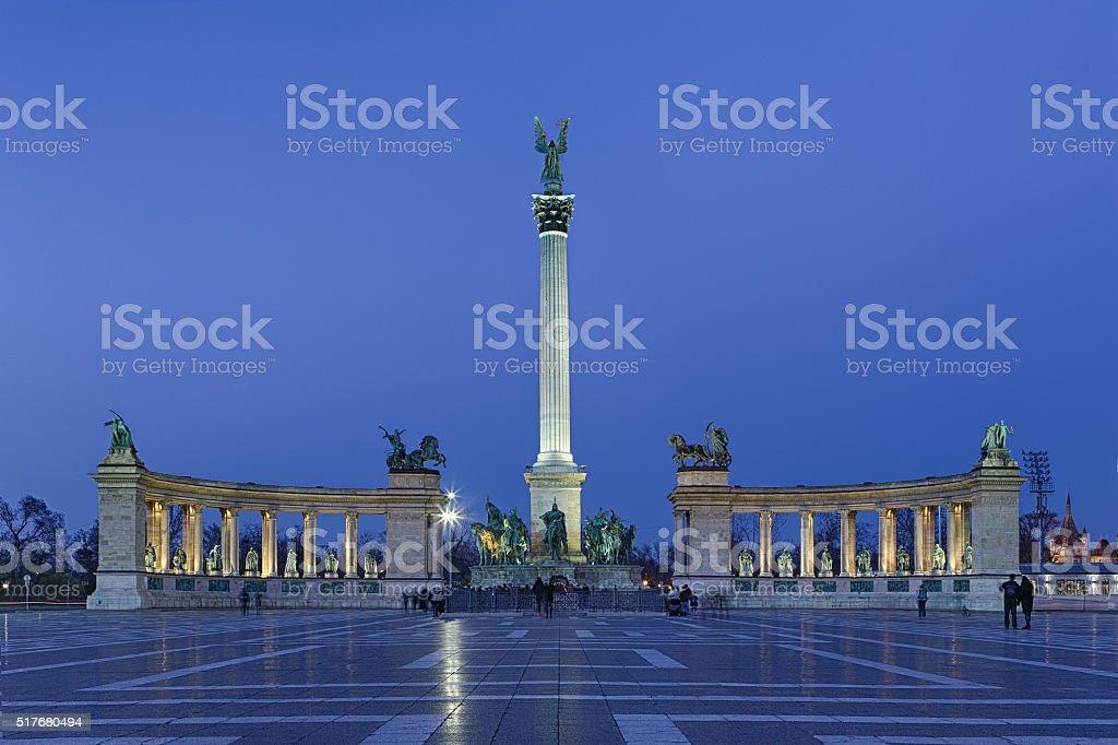 Budapest Hero's Square, Hungary stock photo