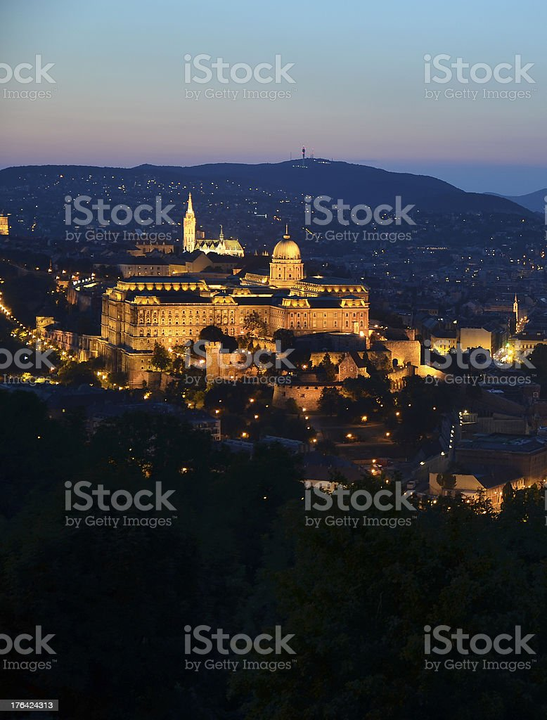 Budapest, Hungary - Buda Castle, Matthias Church royalty-free stock photo