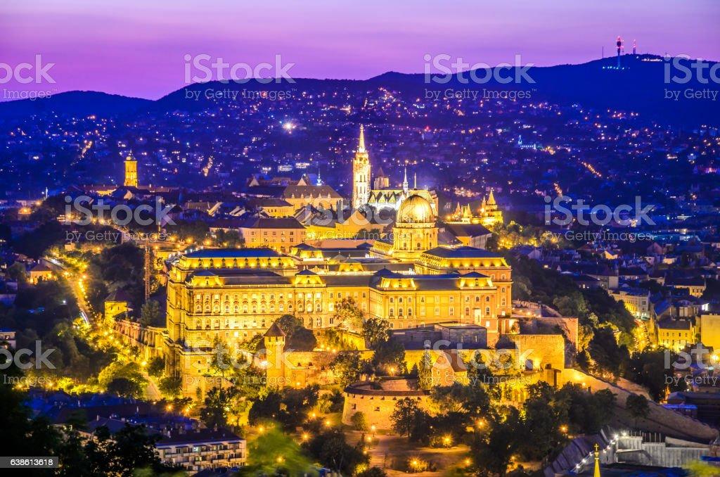 Budapest, Hungary - Buda seen from Gellert Hill stock photo