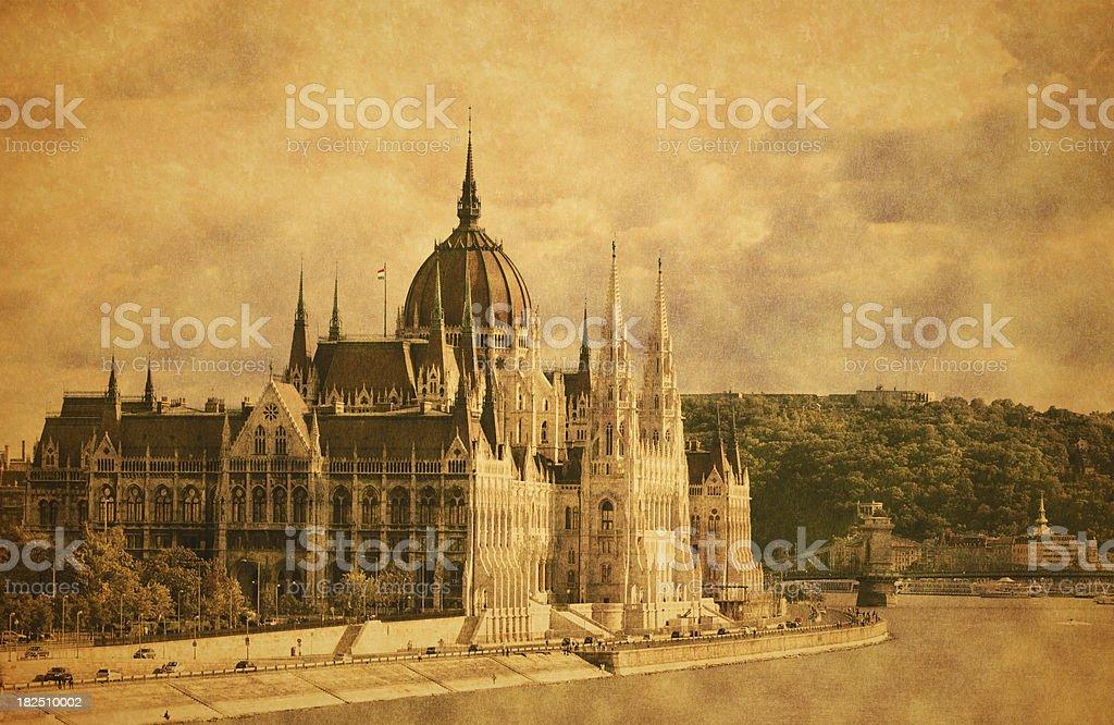 Budapest, Hungary - Grunge royalty-free stock photo