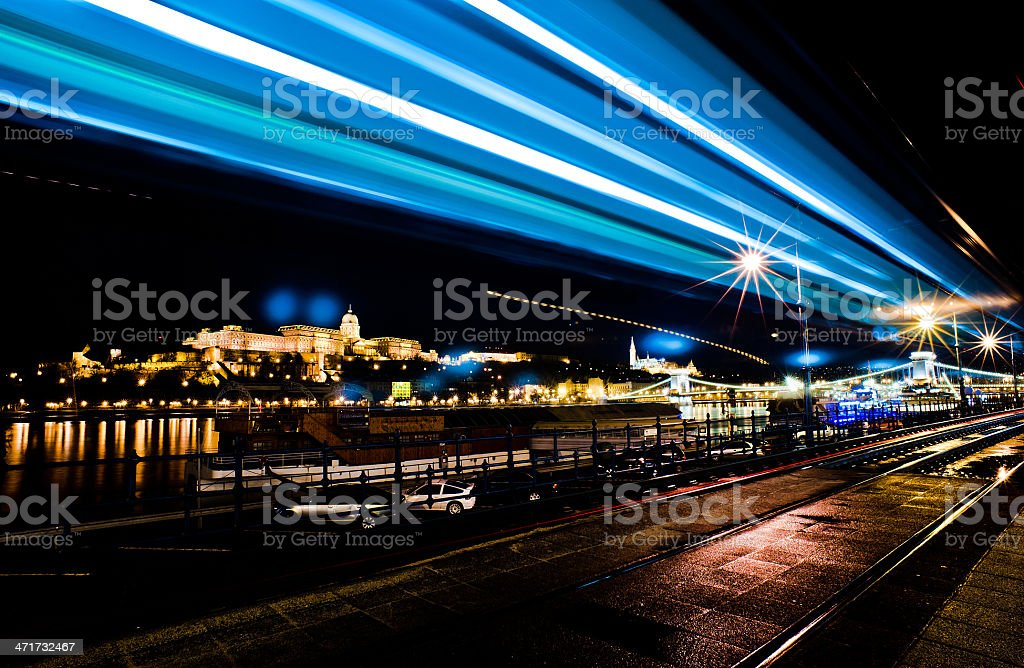 Budapest Hungary night stock photo