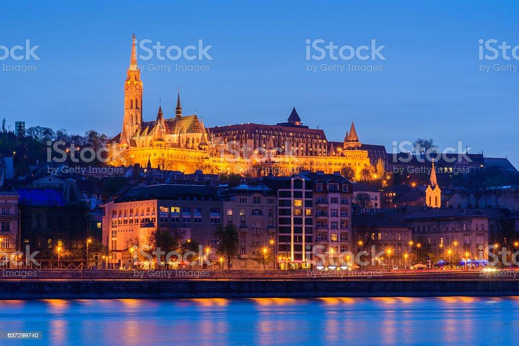 Budapest, Hungary, with royal palace stock photo