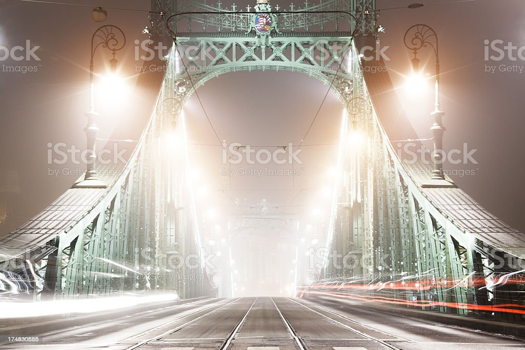 Budapest, Liberty bridge royalty-free stock photo