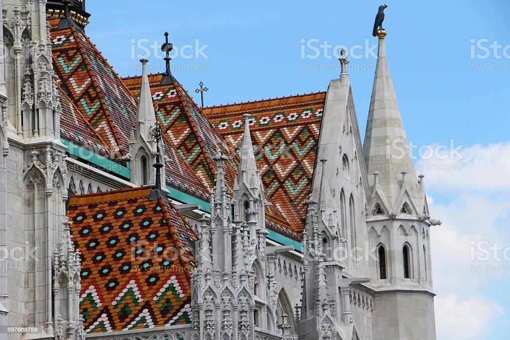 budapest - mathias church detail stock photo