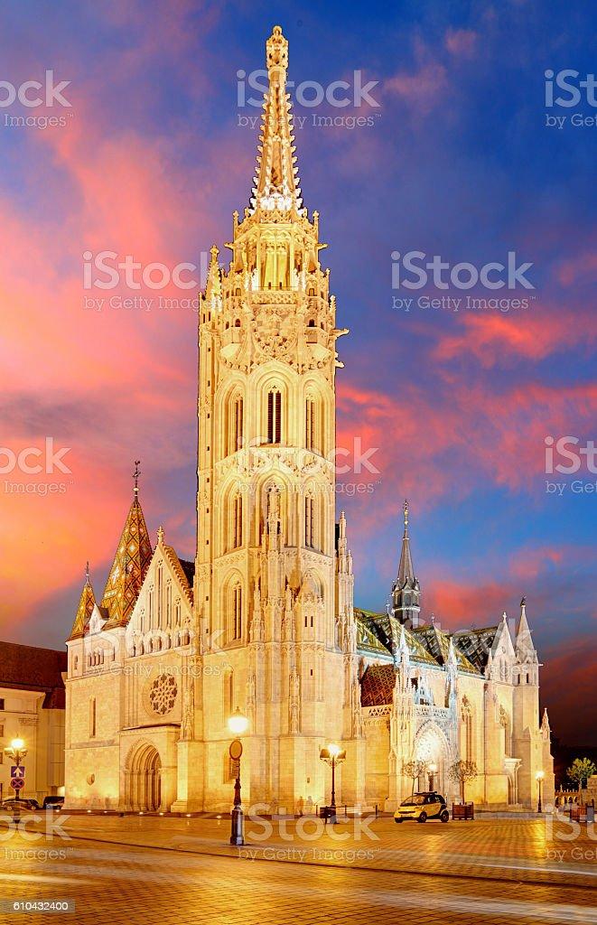 Budapest - Mathias church, Hungary stock photo