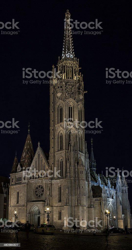 Budapest Mathias Curch stock photo