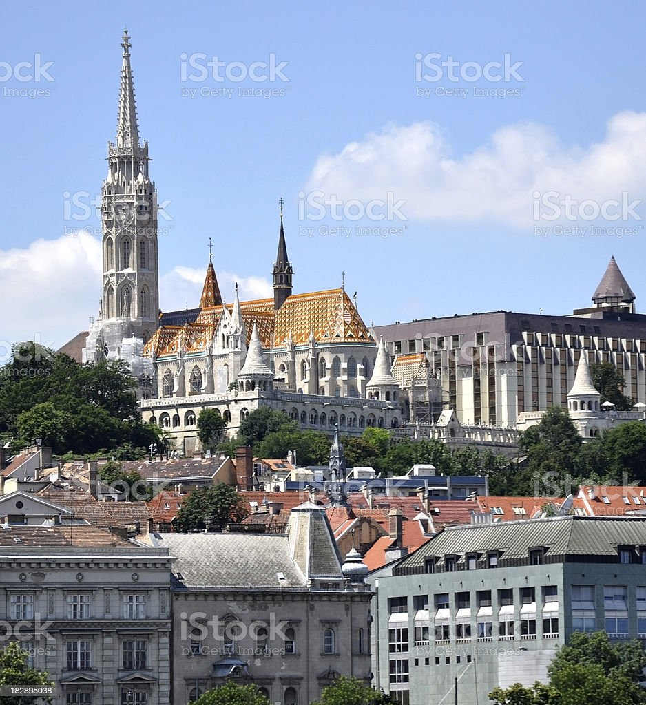Budapest, Matthias Church and the Fishermen's Bastion royalty-free stock photo