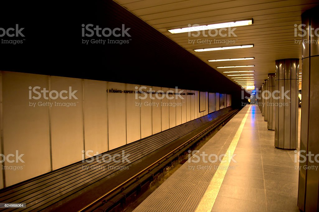 Budapest Metro Station stock photo