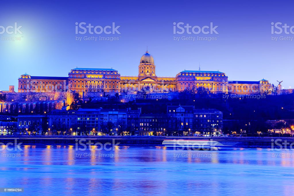 Budapest night, Hungary stock photo