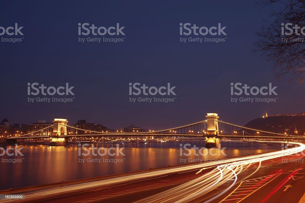 Budapest night royalty-free stock photo