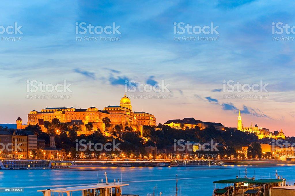 Budapest night view royalty-free stock photo