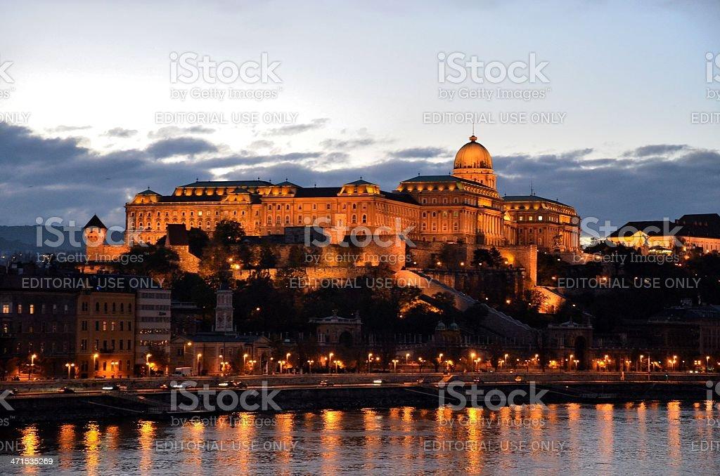 Budapest Palace at night, Hungary royalty-free stock photo