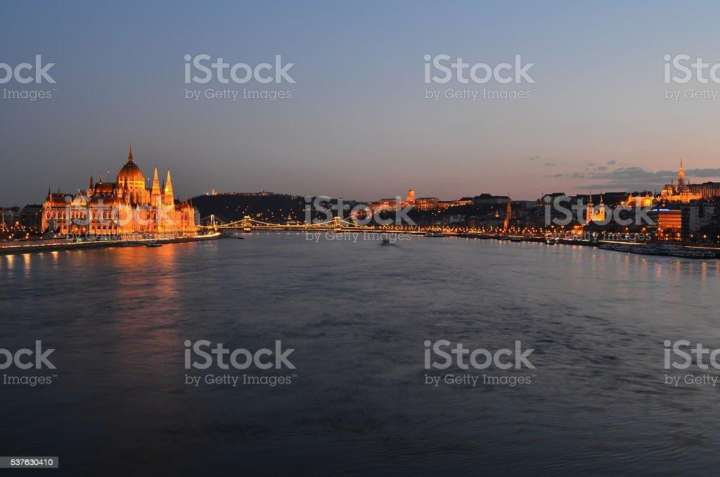 Budapest panorama, Hungary. stock photo