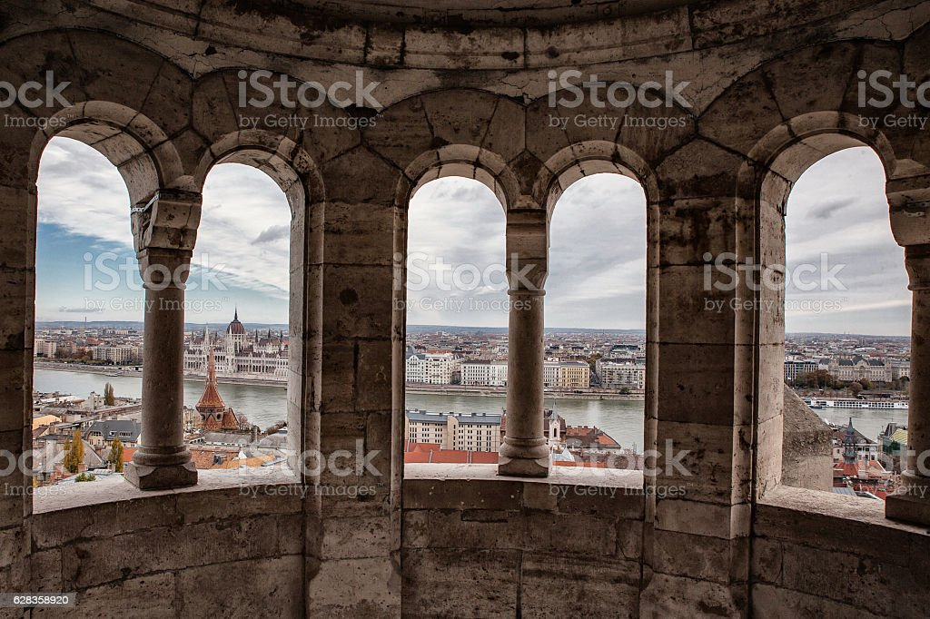 budapest panoramic view stock photo
